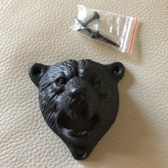 Bear head wall bottle opener